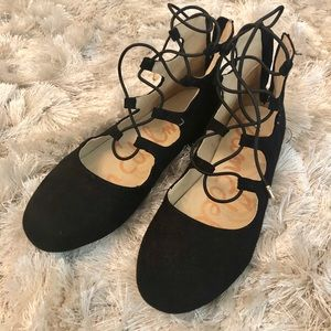 Felicia Stella Lace up girls flats